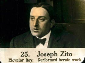 Joseph Zito, the elevator boy who performed heroic work during the fire