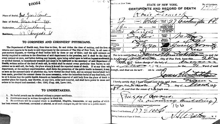 Rose Liermark death certificate