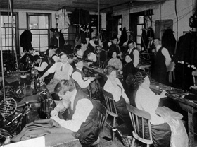 Typical sweatshop of the early 1900's