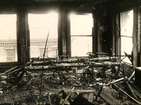 Remains of the ninth floor after the fire