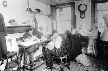 Sweatshop conditions in the early 1900's